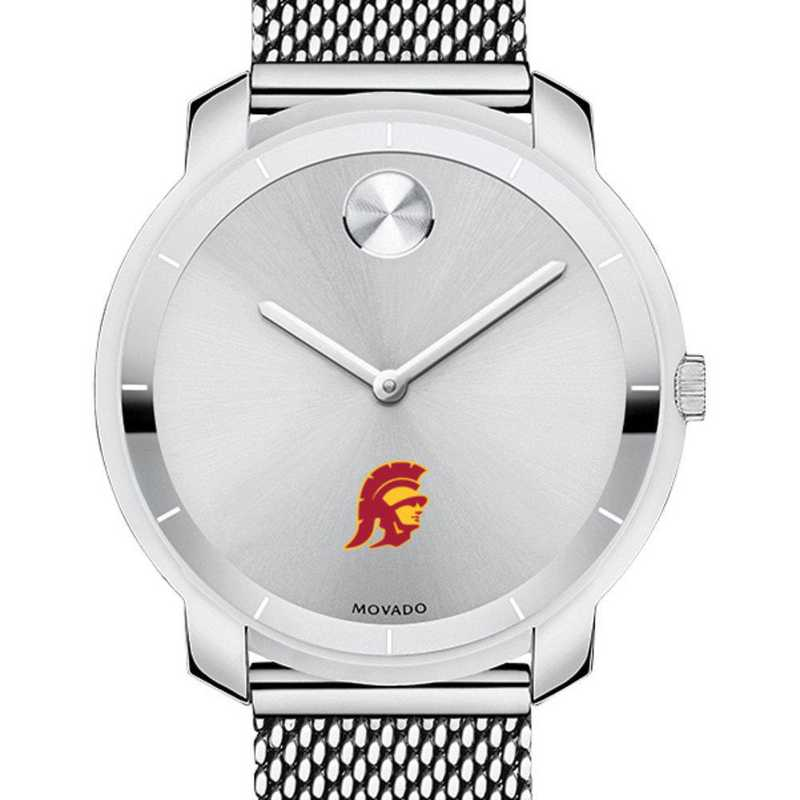 615789858461: Univ of Southern California Women's Movado Stainless Bold 36