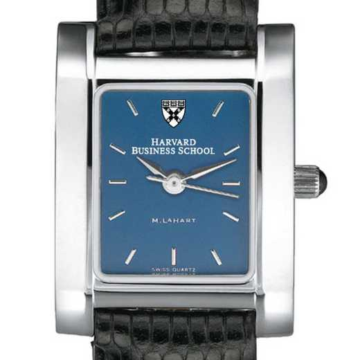 615789410317: Harvard Business School Women's Blue Quad Watch w/LthrStrap