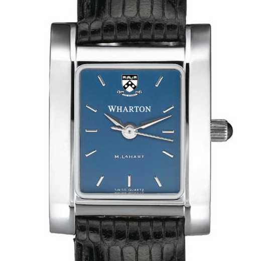 615789410959: Wharton Women's Blue Quad Watch with Leather Strap