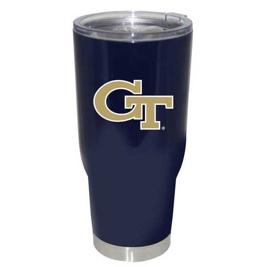 COL-GT-750101: 32oz Decal PC SS Tumbler GA Tech