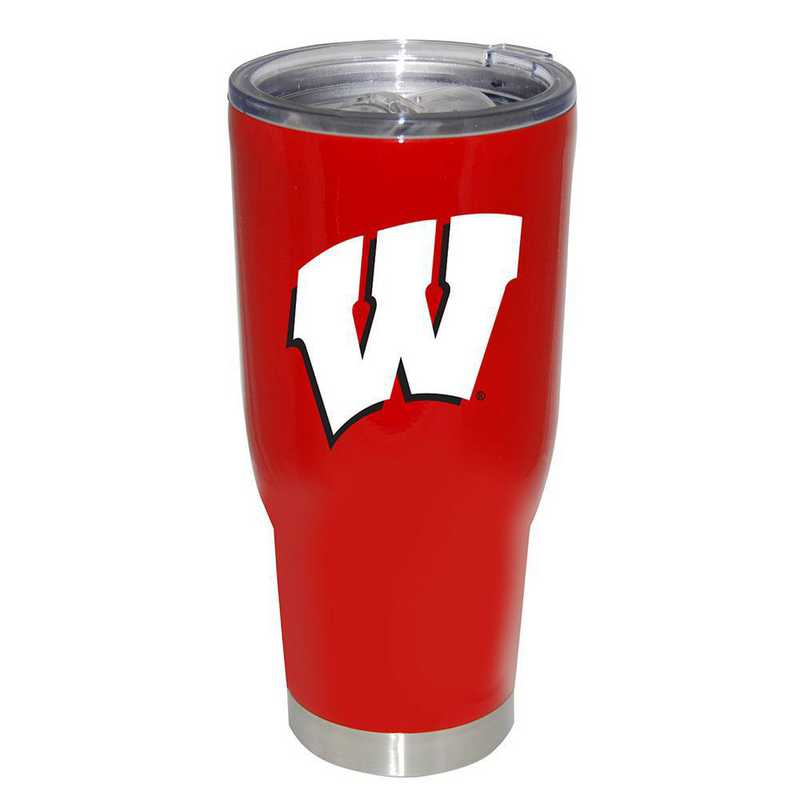 COL-WIS-750101: 32oz Decal PC SS Tumbler WI