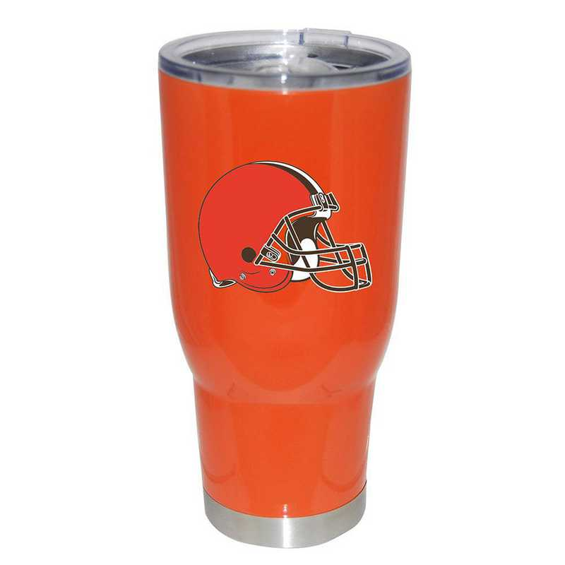 NFL-CLV-750101: 32oz Decal PC SS Tumbler Browns