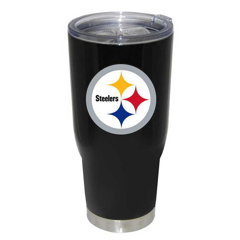 NFL-PST-750101: 32oz Decal PC SS Tumbler Steelers
