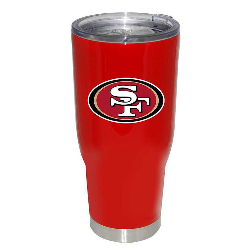 NFL-SFF-750101: 32oz Decal PC SS Tumbler 49ers