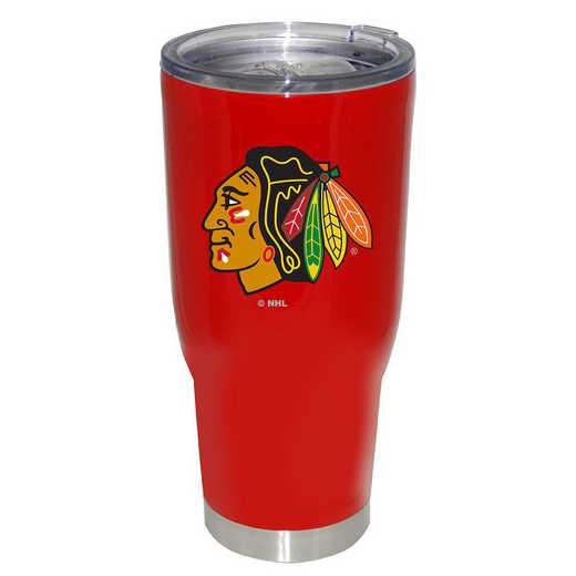 NHL-CBH-750101: 32oz Decal PC SS Tumbler Blackhawks