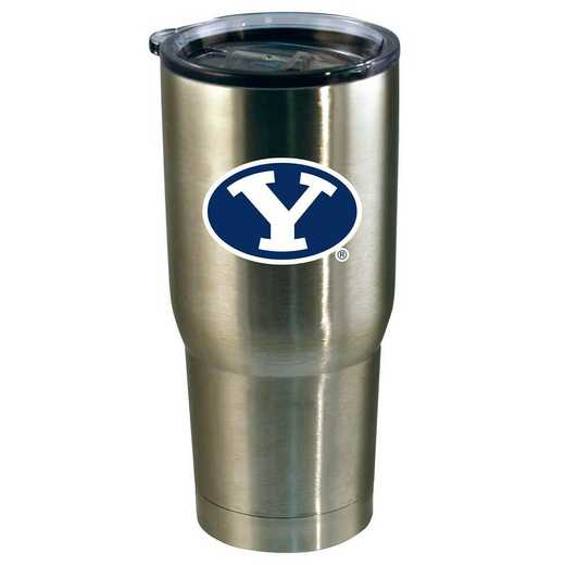 COL-BYU-720101: 22oz Decal SS Tumbler BYU