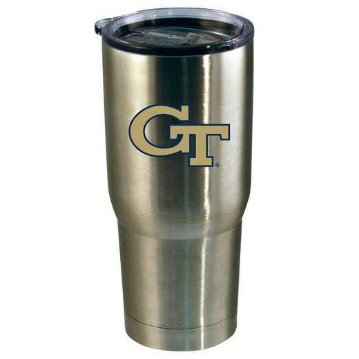 COL-GT-720101: 22oz Decal SS Tumbler GA Tech
