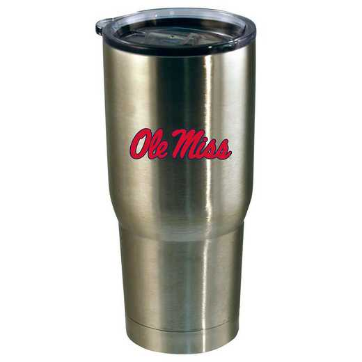 COL-MS-720101: 22oz Decal SS Tumbler Ole Miss