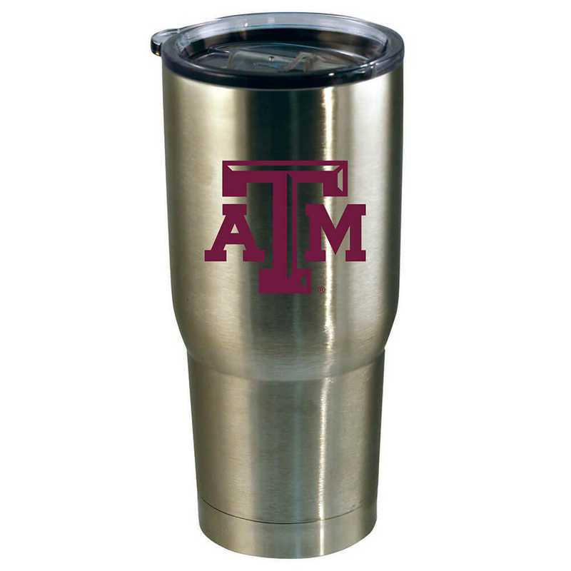 COL-TAM-720101: 22oz Decal SS Tumbler TX A&M