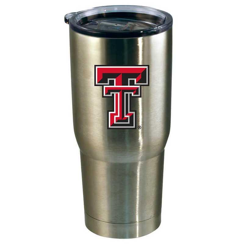 COL-TXT-720101: 22oz Decal SS Tumbler TX Tech
