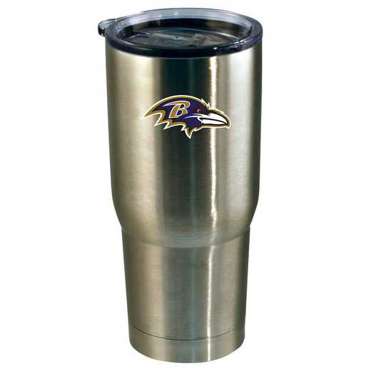 NFL-BRA-720101: 22oz Decal SS Tumbler Ravens