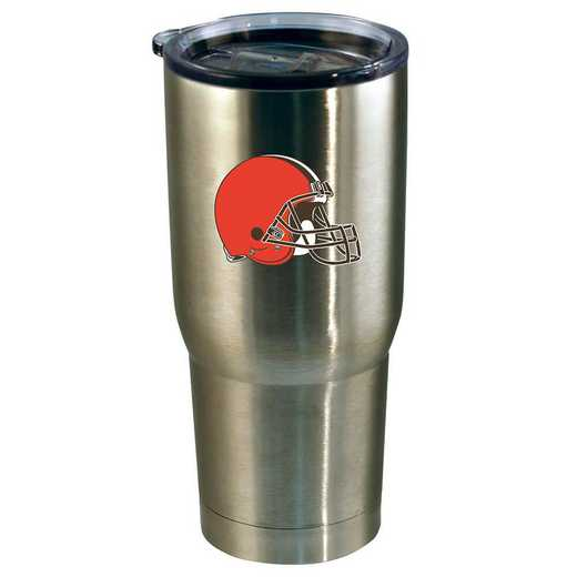 NFL-CLV-720101: 22oz Decal SS Tumbler Browns