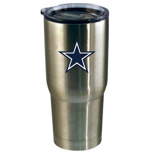 NFL-DAL-720101: 22oz Decal SS Tumbler Cowboys