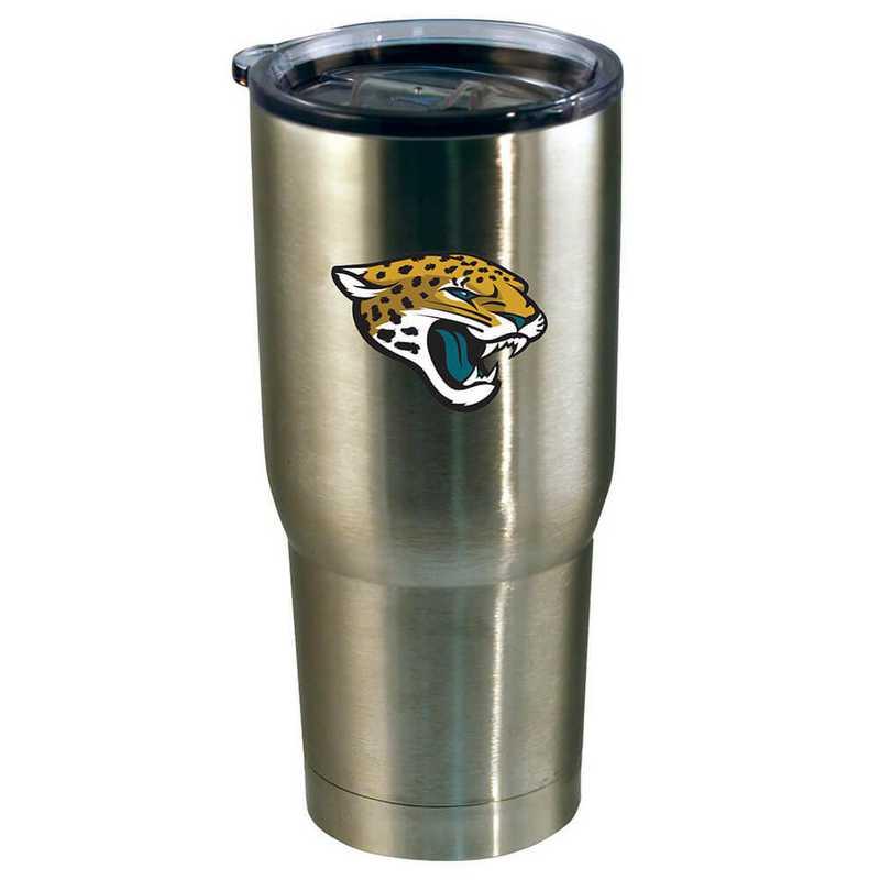 NFL-JAX-720101: 22oz Decal SS Tumbler Jaguars
