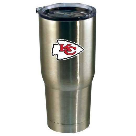 NFL-KCC-720101: 22oz Decal SS Tumbler Chiefs