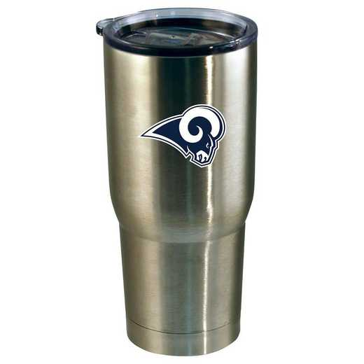 NFL-LAR-720101: 22oz Decal SS Tumbler Rams