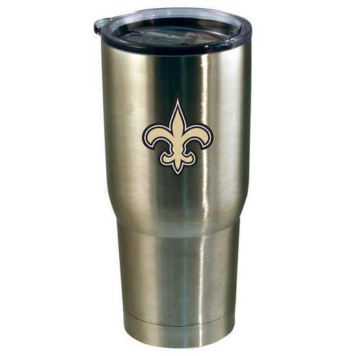 NFL-NOS-720101: 22oz Decal SS Tumbler Saints