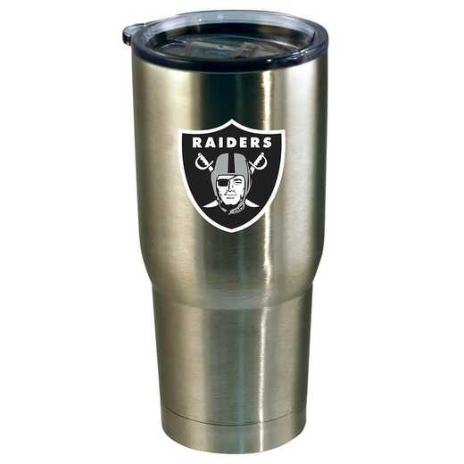 NFL-ORA-720101: 22oz Decal SS Tumbler Raiders