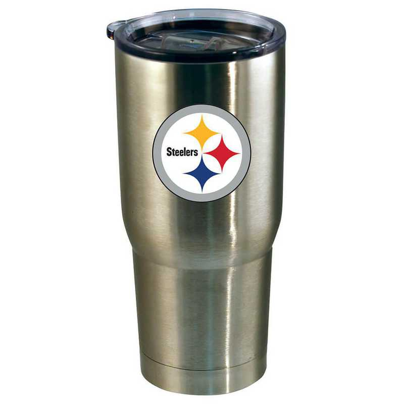 NFL-PST-720101: 22oz Decal SS Tumbler Steelers