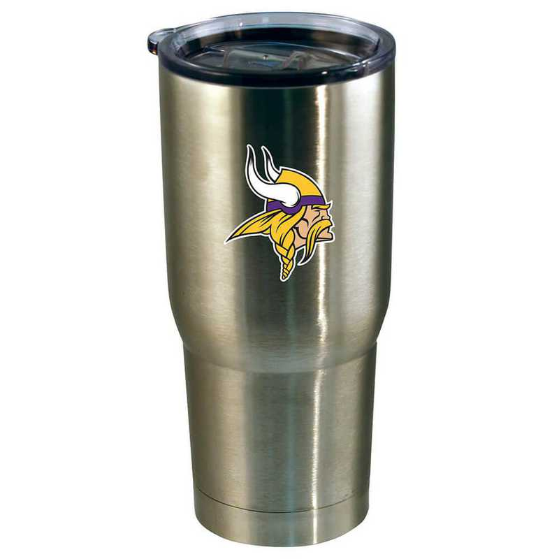 NFL-VIK-720101: 22oz Decal SS Tumbler Vikings