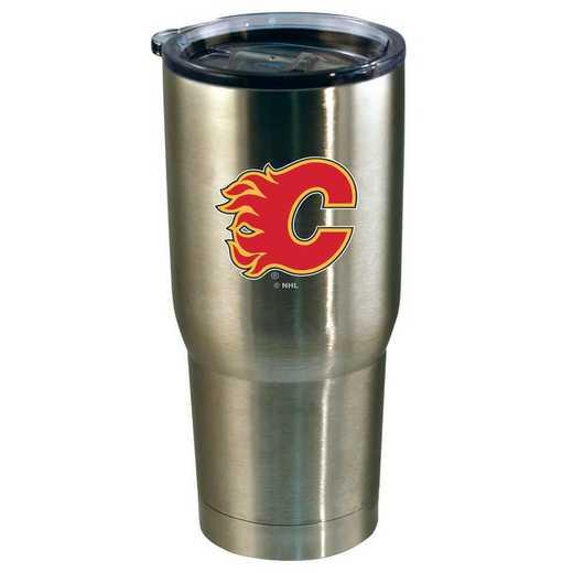 NHL-CFL-720101: 22oz Decal SS Tumbler Flames