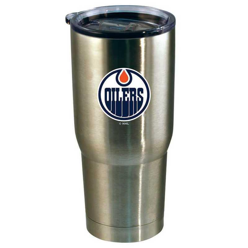 NHL-EDO-720101: 22oz Decal SS Tumbler Oilers