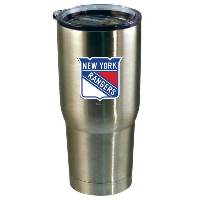 NHL-NYR-720101: 22oz Decal SS Tumbler Rangers
