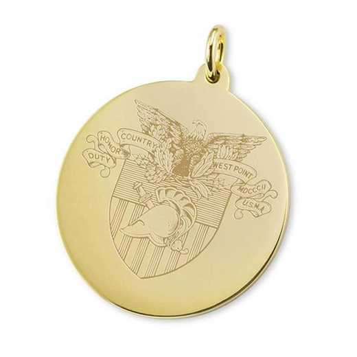 615789010395: West Point 14K Gold Charm by M.LaHart & Co.