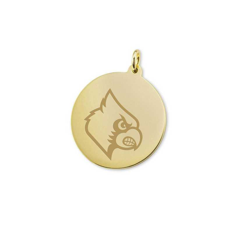 615789039372: University of Louisville 14K Gold Charm by M.LaHart & Co.