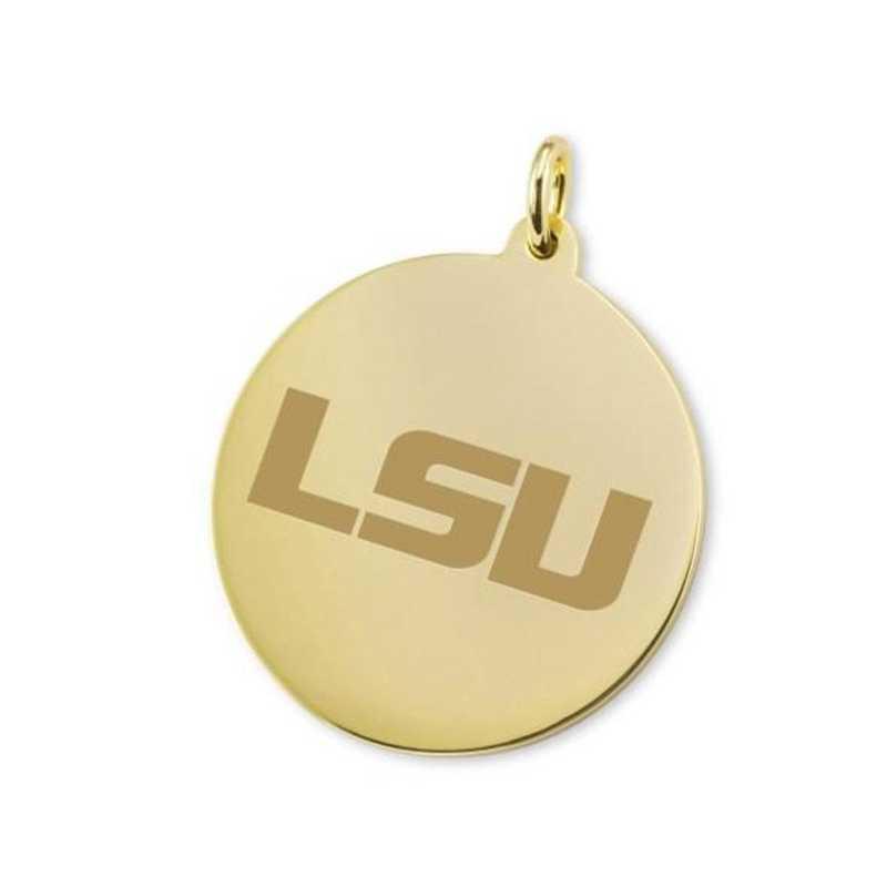 615789060260: LSU 14K Gold Charm by M.LaHart & Co.