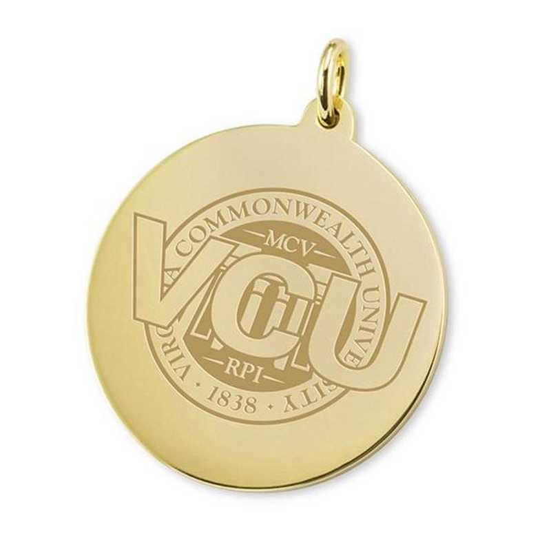 615789252436: VCU 14K Gold Charm by M.LaHart & Co.