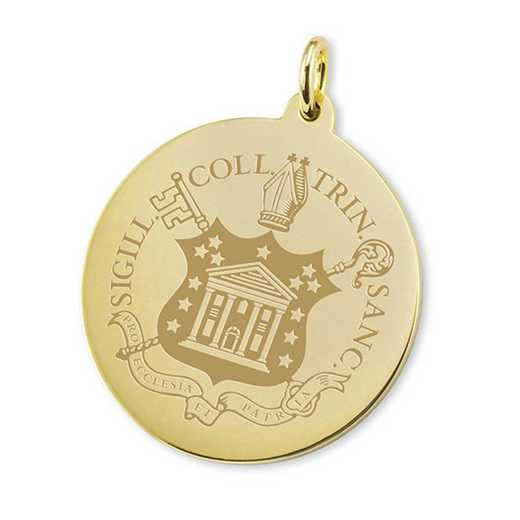 615789797395: Trinity College 14K Gold Charm by M.LaHart & Co.
