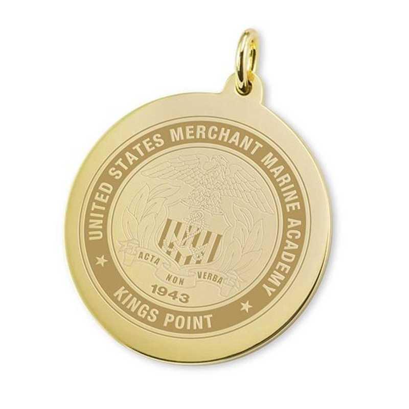 615789937777: Merchant Marine Academy 14K Gold Charm by M.LaHart & Co.