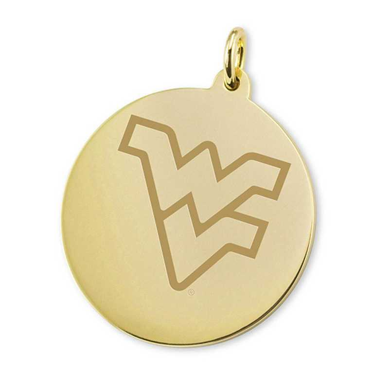 615789945451: West Virginia University 14K Gold Charm by M.LaHart & Co.