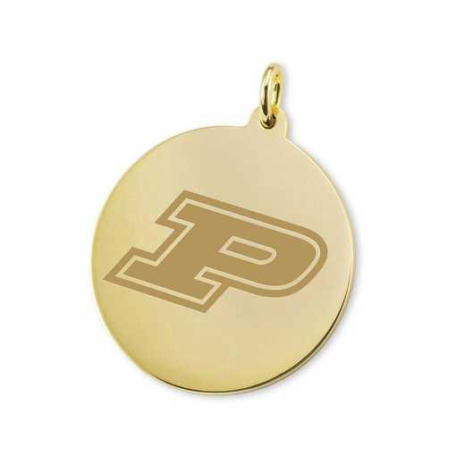 615789968818: Purdue University 14K Gold Charm by M.LaHart & Co.