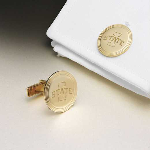 615789429562: Iowa St Univ 14K Gld Cufflinks by M.LaHart & Co.