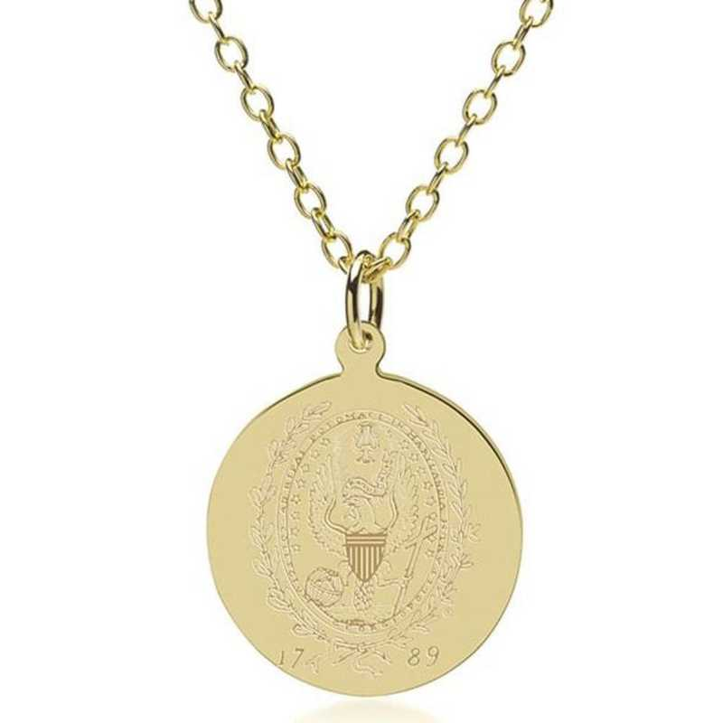 615789033707: Georgetown 14K Gold Pendant & Chain by M.LaHart & Co.