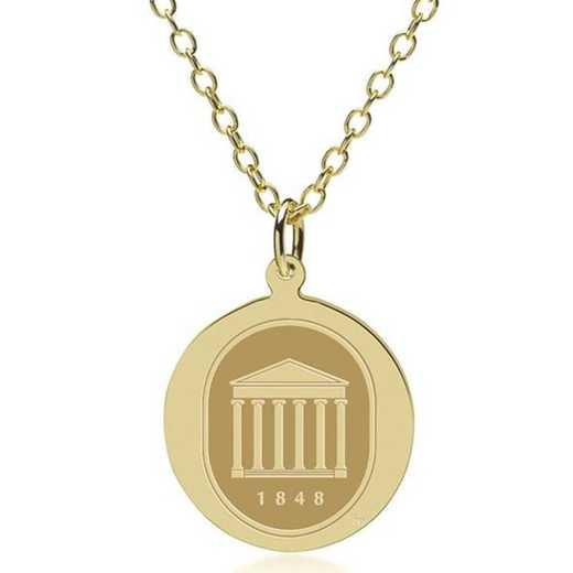 615789118947: Ole Miss 14K Gold Pendant & Chain by M.LaHart & Co.