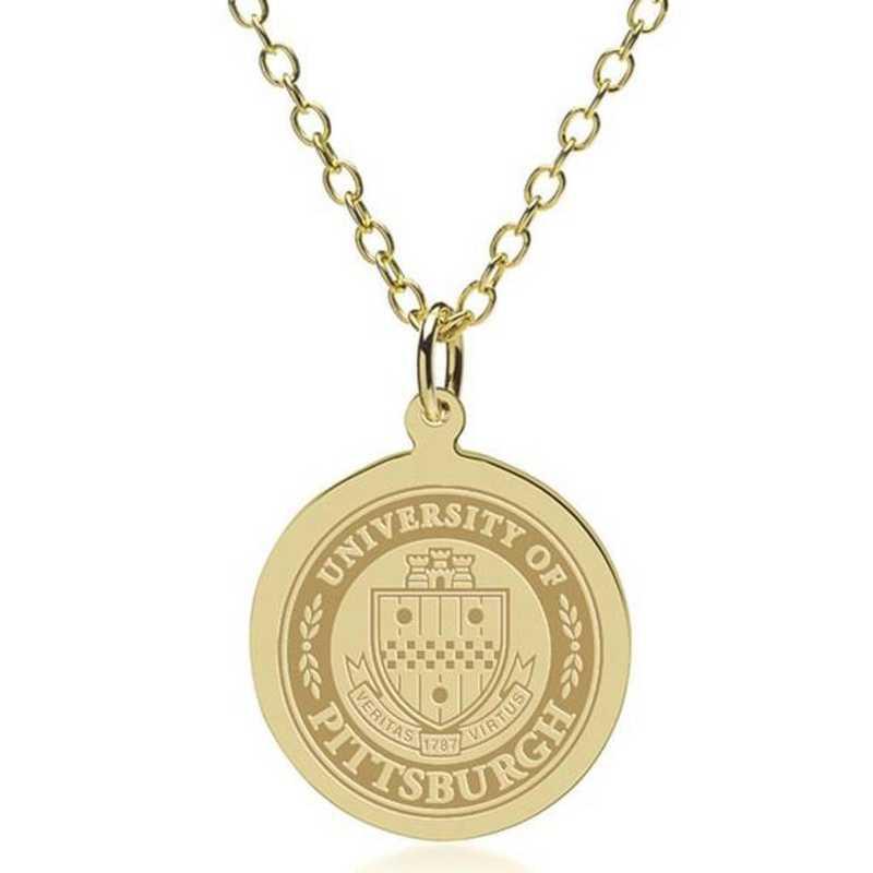 615789232957: Pitt 14K Gold Pendant & Chain by M.LaHart & Co.