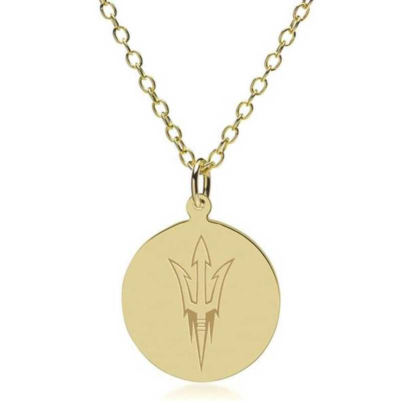 615789392996: Arizona State 14K Gold Pendant & Chain by M.LaHart & Co.