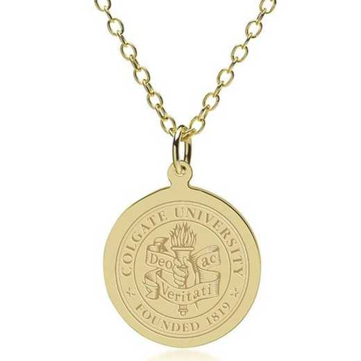 615789565895: Colgate 14K Gold Pendant & Chain by M.LaHart & Co.