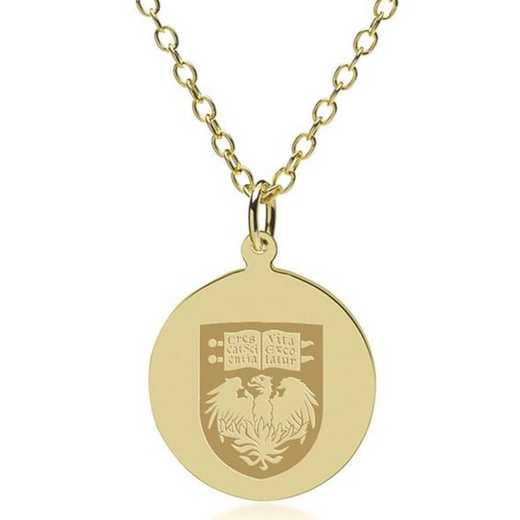 615789609148: Chicago 14K Gold Pendant & Chain by M.LaHart & Co.