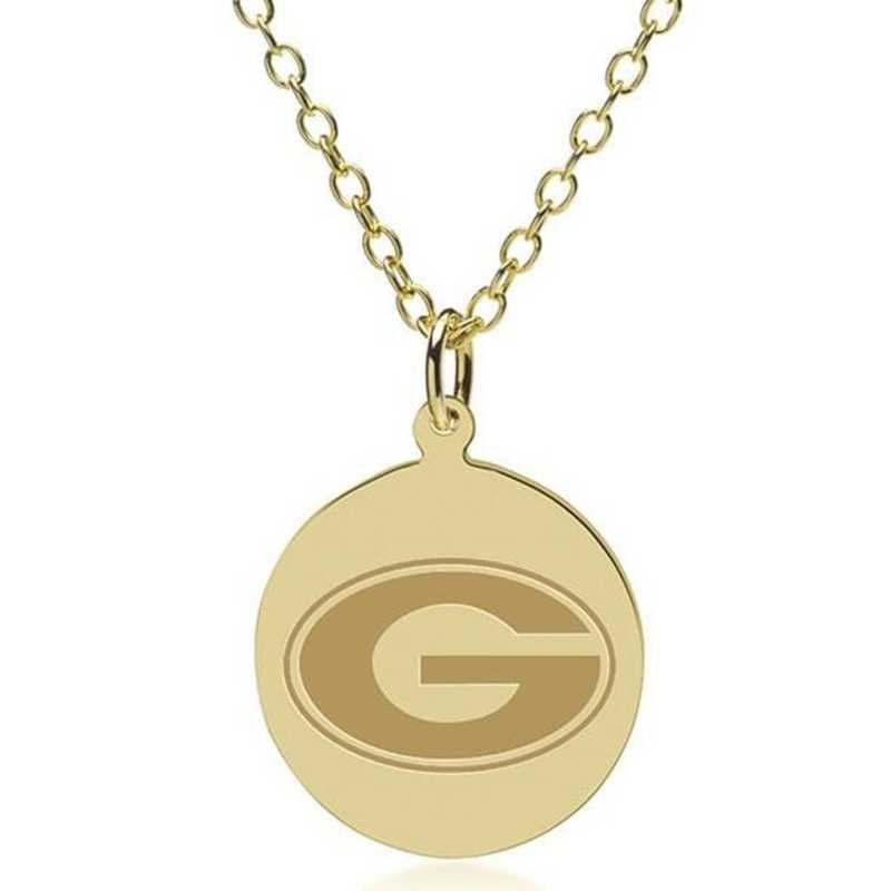 615789683933: Georgia 14K Gold Pendant & Chain by M.LaHart & Co.
