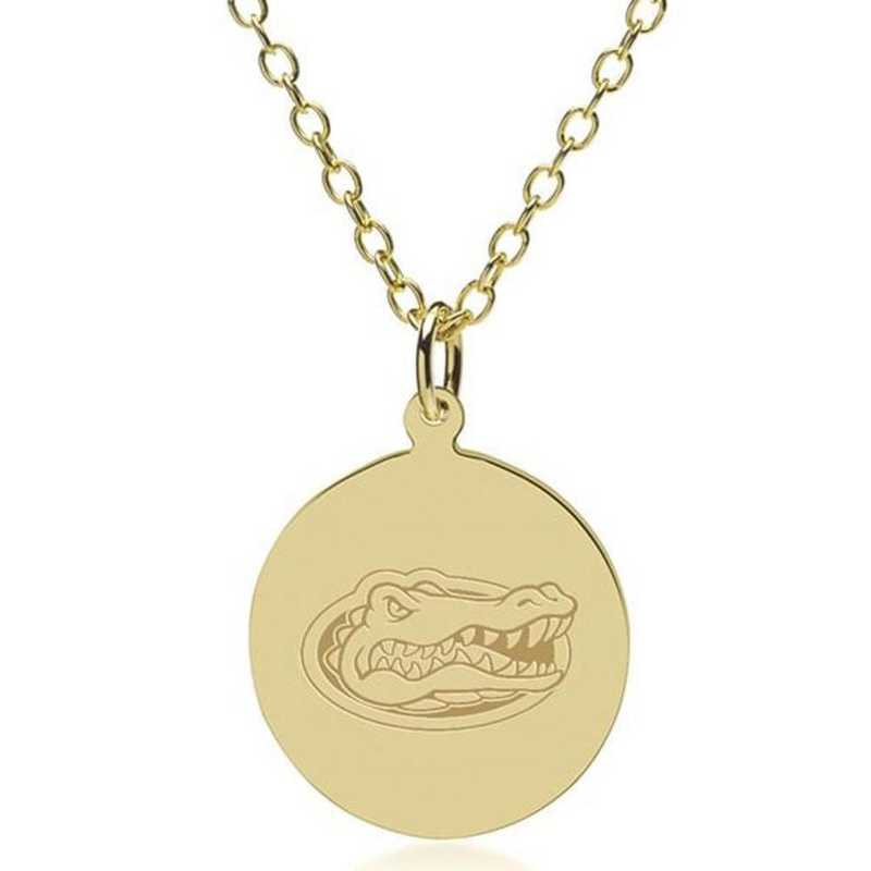 615789743859: Florida 14K Gold Pendant & Chain by M.LaHart & Co.