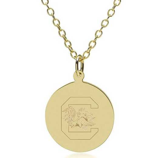 615789770336: South Carolina 14K Gold Pendant & Chain by M.LaHart & Co.