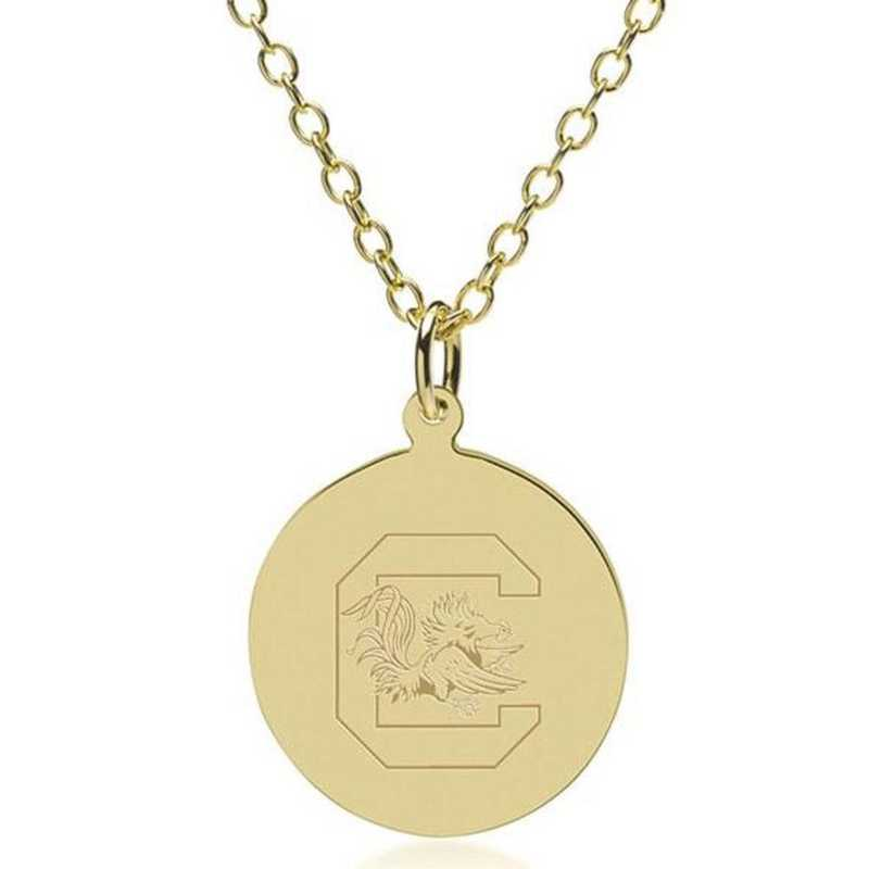 615789770336: South Carolina 14K Gold Pendant & Chain by M.LaHart & Co.