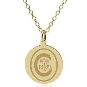 615789857549: Clemson 14K Gold Pendant & Chain by M.LaHart & Co.