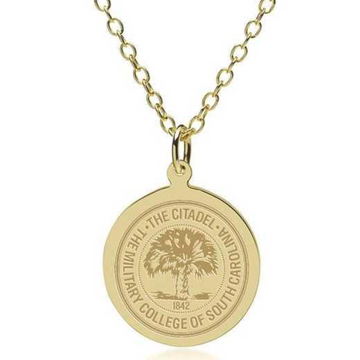 615789861126: Citadel 14K Gold Pendant & Chain by M.LaHart & Co.