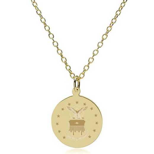 615789986225: USAFA 14K Gold Pendant & Chain by M.LaHart & Co.