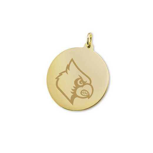 615789132172: University of Louisville 18K Gold Charm by M.LaHart & Co.